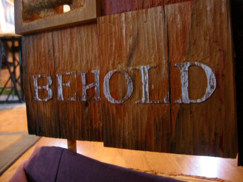 Carved lettering