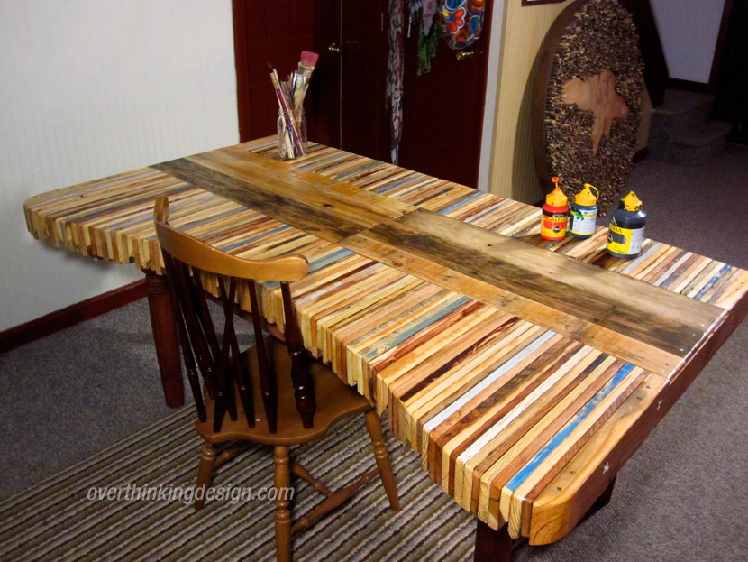 Table made from pallet wood