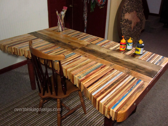 Table made from pallets overthinking design - Fabriquer ses meubles en bois de palette ...