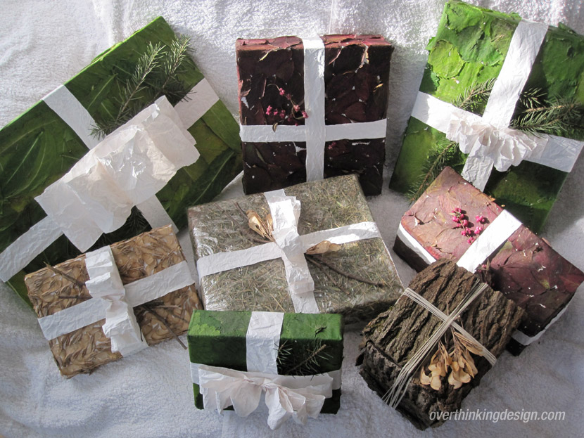 Organic themed gift wrapping