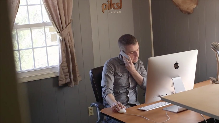 Documentary image showing the Piksl Design office