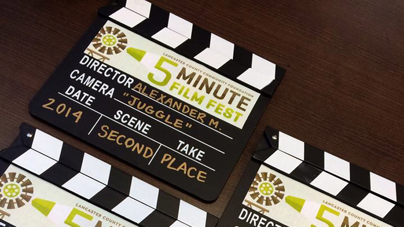 The award given for second place in the Lancaster County Community Foundation's 2014 Film Fest