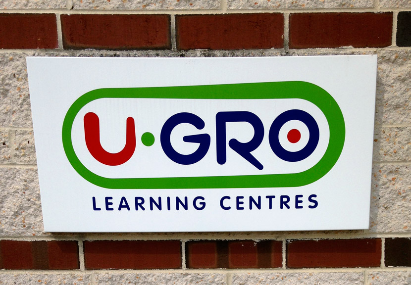 A sign for U-Gro Learning Centres