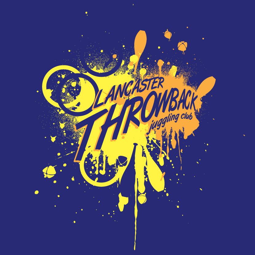 Lancaster Throwback Juggling Club Logo