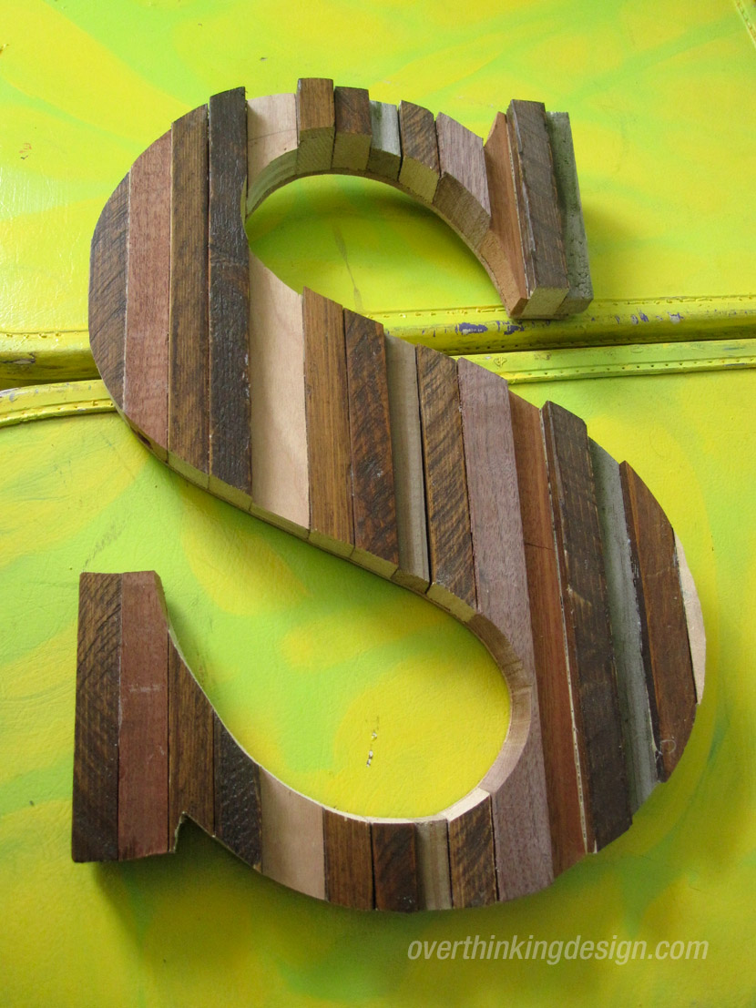 Scrap wood letters make great gifts