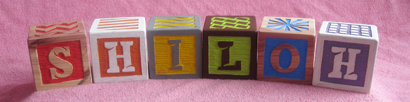 Hand-carved wooden toy blocks for children