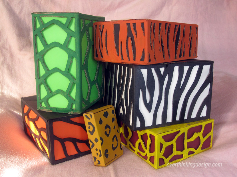 Animal pattern gift wrapping