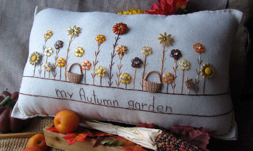 """My Autumn Garden"" pillow"