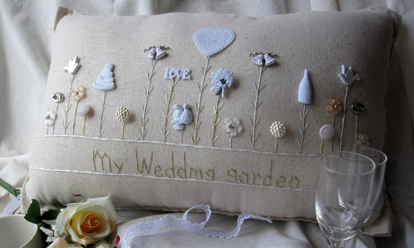 """My Wedding Garden"" pillow"