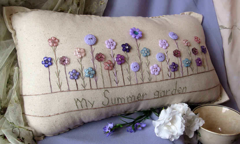 """My Summer Garden"" pillow"