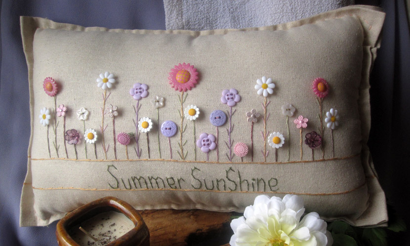 """Summer Sunshine"" pillow"