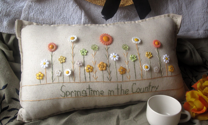 """Springtime in the Country"" pillow"