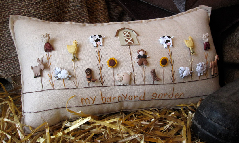 """My Barnyard Garden"" pillow"