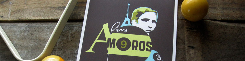 Joculare poster design of juggler Pierre Amoros