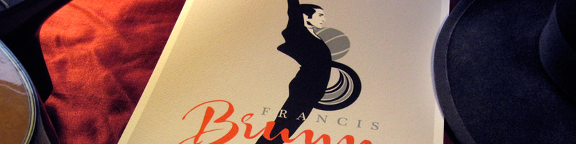 Joculare poster design of juggler Francis Brunn