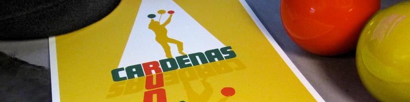 Joculare poster design of juggler Rudy Cardenas