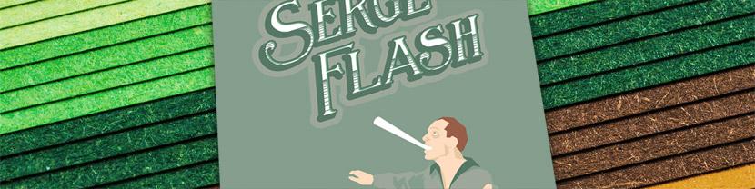 Joculare poster design of juggler Serge Flash