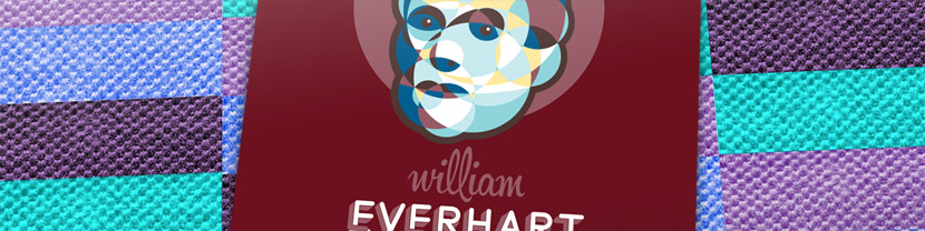 Joculare poster design of hoop roller William Everhart