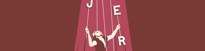 Joculare poster design of juggler Jenny Jaeger
