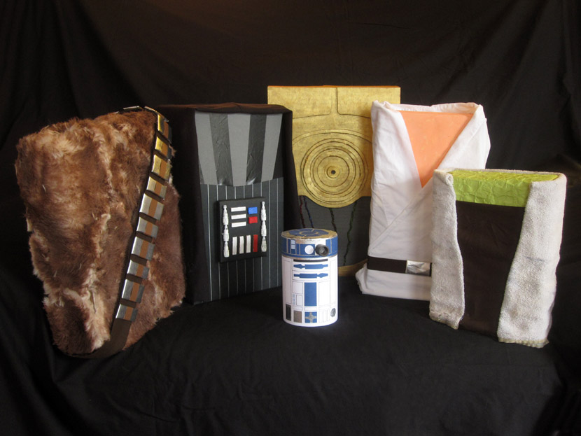 Star Wars-themed gift wrapping