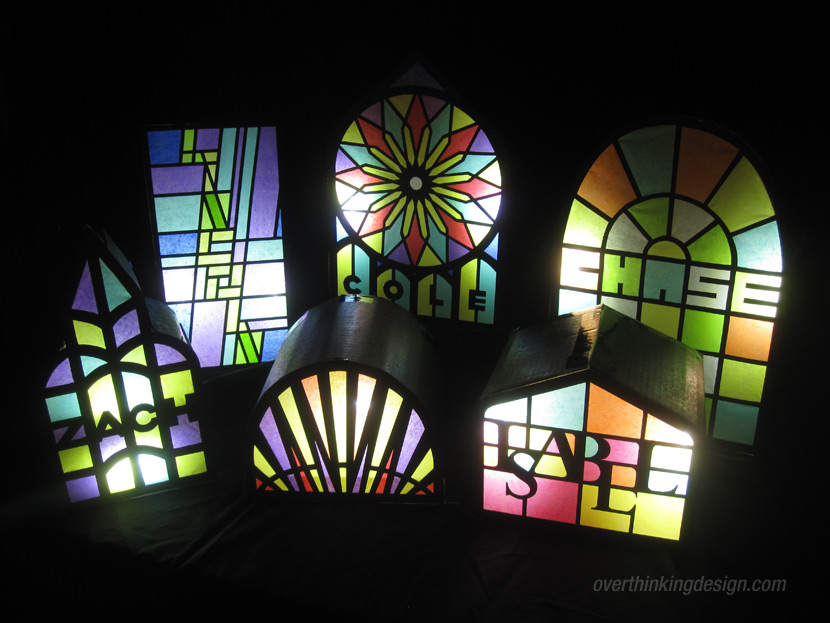 Stained glass window gift wrapping